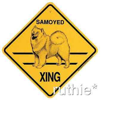 Samoyed Dog Crossing Xing Sign New