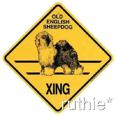 Old English Sheepdog Dog Crossing Xing Sign New O E