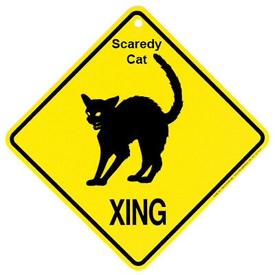 Scaredy Cat Crossing Xing Sign New