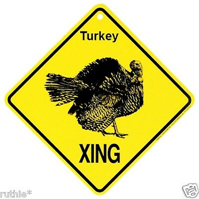 Turkey Crossing Xing Sign New