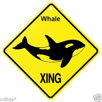 Whale Crossing Xing Sign New Made in USA