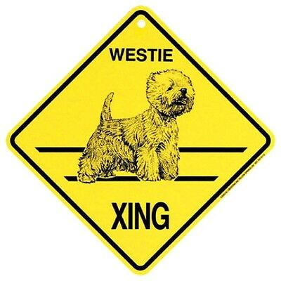 Westie Dog Crossing Xing Sign New West Highland Terrier