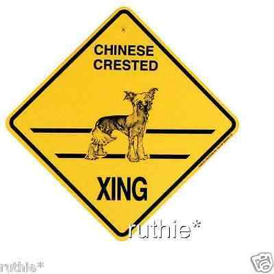 Chinese Crested Dog Crossing Xing Sign New