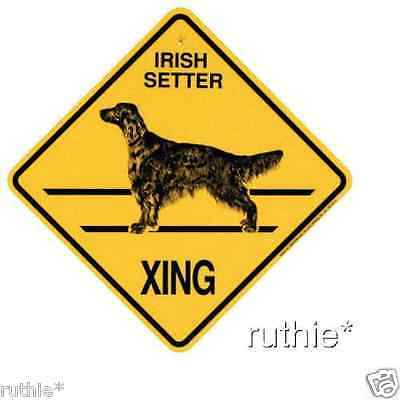 Irish Setter Dog Crossing Xing Sign New Made in USA