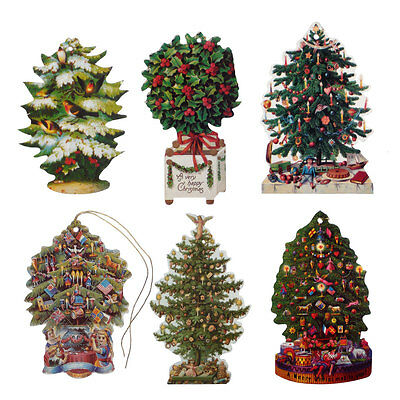 150 Victorian Die-cut Christmas Tree Gift Tags by Courtier XT0022