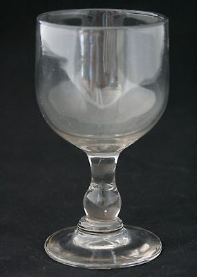 a large Antique 19th Century Red Wine Glass, ca.1880