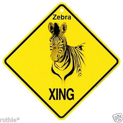 Zebra Crossing Xing Sign New