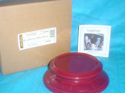 Longaberger Paprika Candle Holder Cheesball Plate Dish new
