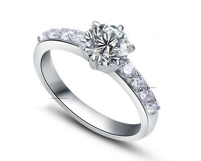 ViVi Ladies Engagement sterling silver Diamond Ring 8447a Birthday Gifts for Her