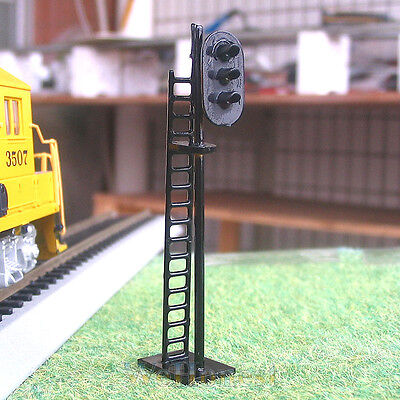5 pcs HO Scale 1:87 LEDs Made Railroad Block Signals Lights 3 aspects G/Y/R #N