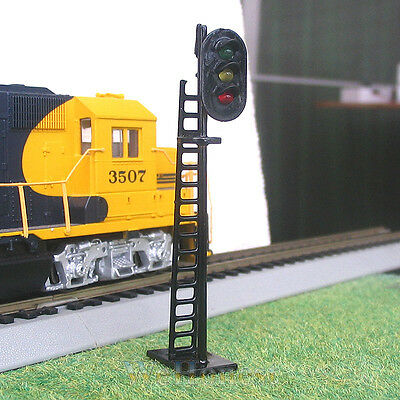 5 pcs OO or HO Scale LEDs Made Railway Signals 3 lights Block Signals G/Y/R #N
