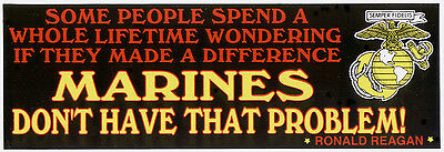 2 President Ronald Reagan Bumper Stickers Zap Us Marines Some People Wonder Wow