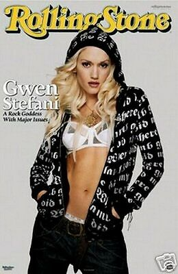 New Gwen Stefani Sexy Rolling Stone Poster - Rare 24X36