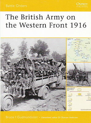 British Army West Front 1916 Osprey Battle Orders Book