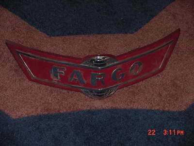 1940s Fargo NOS Chryco Front Grille EMBLEM HUGE 15X4 In