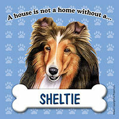 Sheltie Dog Magnet Sign House Is Not A Home