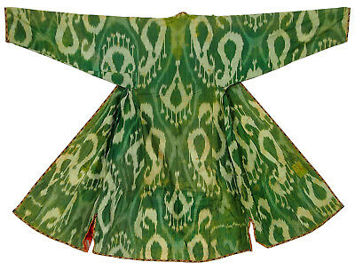 antike Usbekische Ikat Frauen Mantel  Antique women's silk coat chyrpy No:27