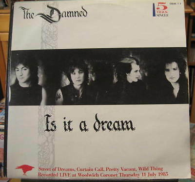 "THE DAMNED Is It A Dream 5trk 12"" inc 2 LIVE trax"