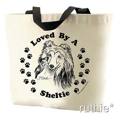 Loved By A Sheltie Tote Bag New  MADE IN USA