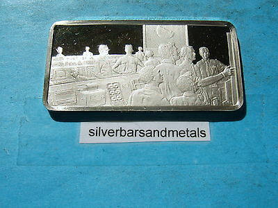 Apollo 8 Nasa 1968 1St Manned Space Flight Silver Bar Rare Cool Historical Item