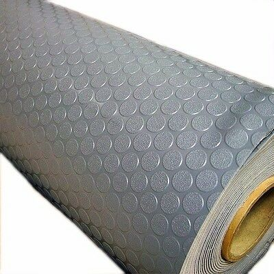 Lonseal Londeck Coin Boat Non Skid Flooring | Stone Gray 90 Inch X 5FT