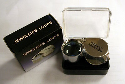 "Jewelers Loupe  magnifier marked ""TRIPLET 20x21mm"""