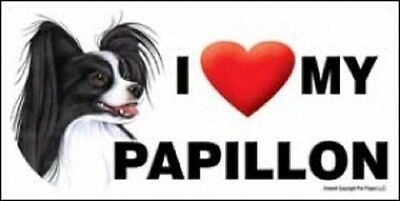 I (Heart) MY PAPILLON Magnet LOVE  Made in USA