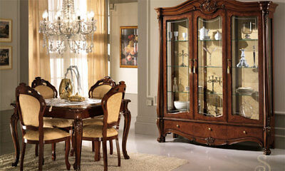 wohnzimmer esszimmer exklusive vitrine luxus stilm bel. Black Bedroom Furniture Sets. Home Design Ideas