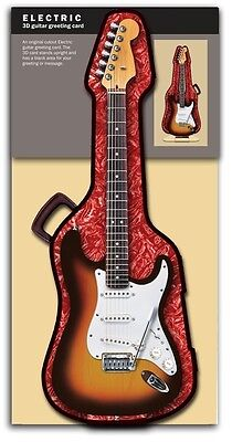 Music Gift 3D Electric Guitar Greeting Card Musician