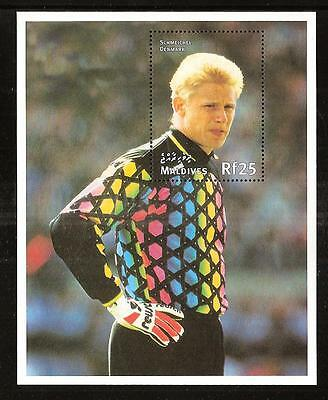 Maldives # 2294 Mnh World Cup Soccer Championship In France, Schmeichel Denmark