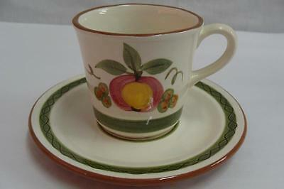 STANGL CHINA APPLE DELIGHT CUP & SAUCER