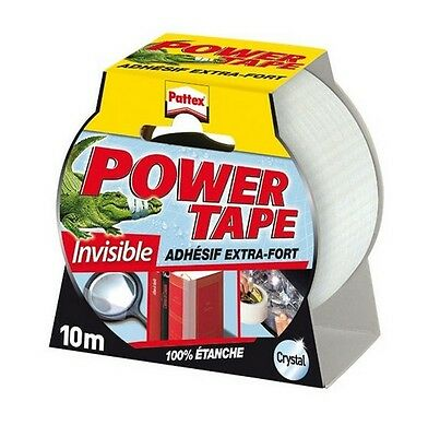Adhesif Transparent Cristal Extra Fort Etanche Power Tape Pattex