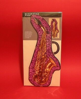 Music Gift 3D Saxophone Greeting Card Jazz Group Orchestra Musician Brass Band