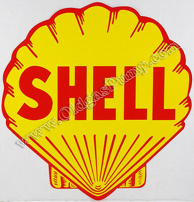 "Shell Gasoline 12"" Die Cut Vinyl Gas & Oil Pump Decal Dc-116"