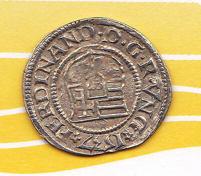 Medieval Silver Madonna & Child Silver Denar Coin from Kingdom of Hungary.