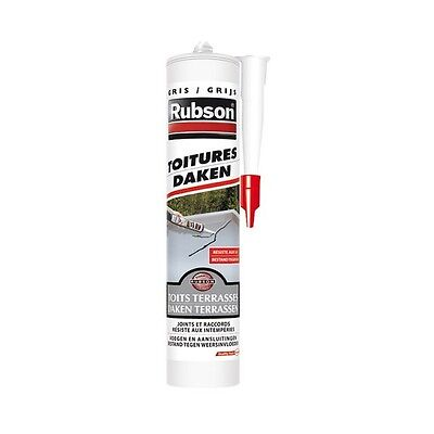 Mastic Silicone Gris Joint Fissure Reparation Toiture Gouttiere Rubson