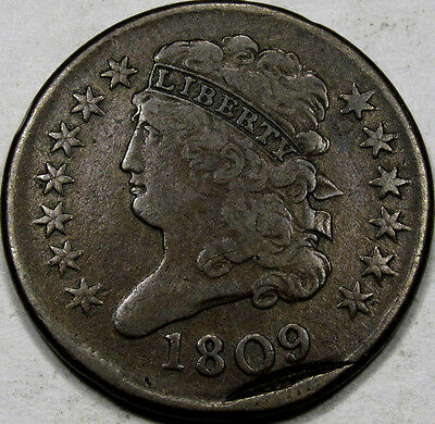 1809 Classic Head Half Cent Choice EF+... with Second Off Center Strike, NEAT!!