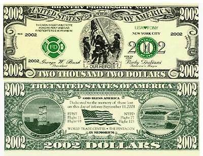OUR IN MEMORY 911 HEROES 2002 DOLLAR BILL (2/$1.00)