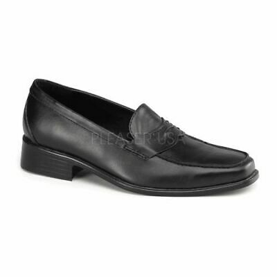 Michael Jackson Costume Shoes - POPSTAR-09 SLIP-ON PENNY LOAFER IN BLACK