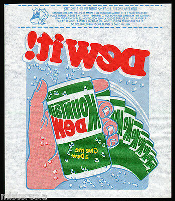 Vintage iron on transfer MOUNTAIN DEW Dew It and Give me a Dew slogans n-mint+