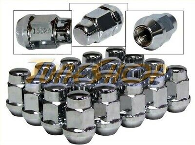 20 Bulge Acorn Wheels Rims Lug Nuts 12X1.5 M12 12 1.5 Closed End Chrome 19 Hex H