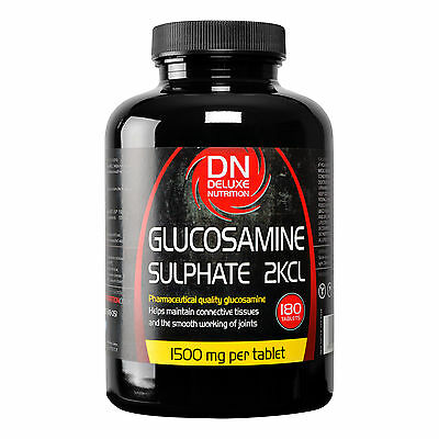 Glucosamine Sulphate 2Kcl 1500mg 360 Tablets joint care well being Deluxe Nutri