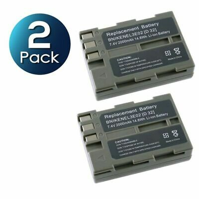 2X EN-EL3e ENEL3e Rechargeable Battery For Nikon D90 D200 D300S D700 D80 D70 D50