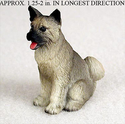 Akita Mini Resin Hand Painted Dog Figurine Statue