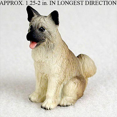 Akita Mini Resin Hand Painted Dog Figurine Statue Fawn