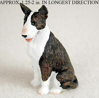 Bull Terrier Mini Resin Hand Painted Dog Figurine Statue Brindle
