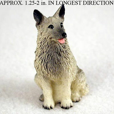 Norwegian Elkhound Mini Resin Hand Painted Dog Figurine