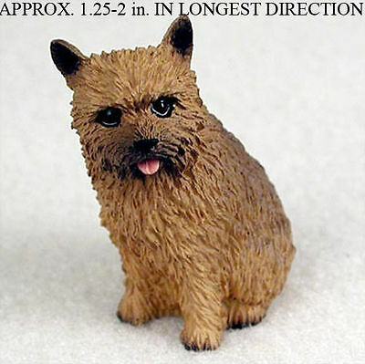 Norwich Terrier Mini Resin Hand Painted Dog Figurine Statue
