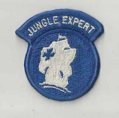 US ARMY PATCH - JUNGLE EXPERT - BLUE CROSS