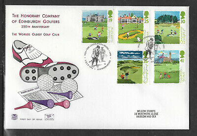 Golf Fdc Gb 250Th Anniversary Lighthouse Turnberry